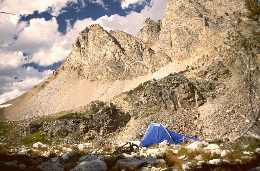 Camp at No Wood Lake.