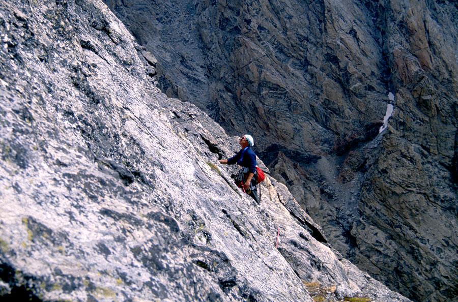 Middle Teton climb.